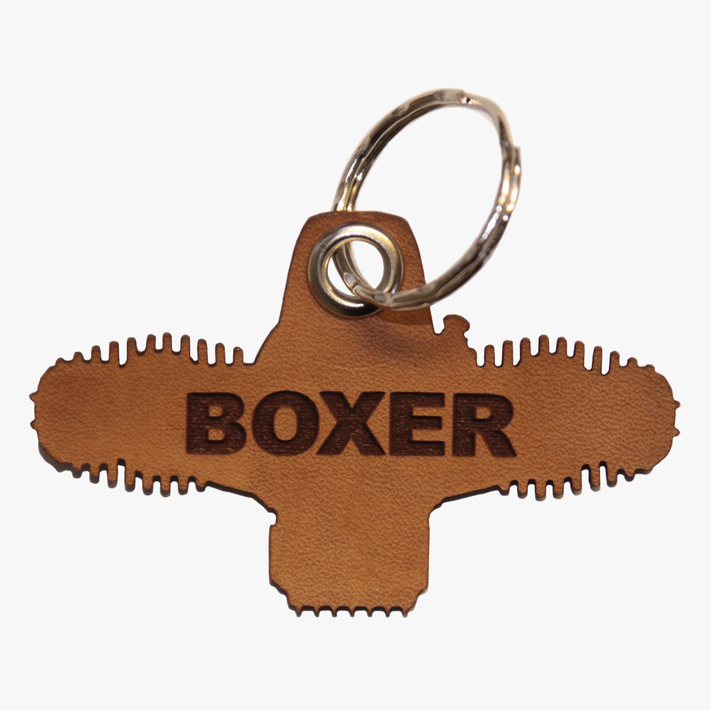 Boxer Leder Schlusselanhanger Himora Clothing